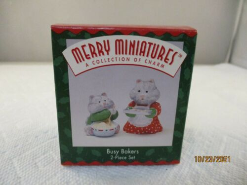 1995 BUSY BAKERS MERRY MINIATURES 2 PIECE SET
