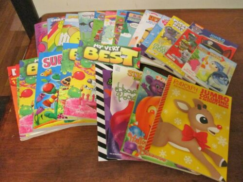 HUGE Lot Coloring Books~Sticker Book~Dot To Dot~Doodle Paper~Mazes~Activity~MORE