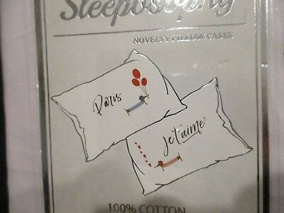Dachshund Dog Sleeposophy Standard Pillowcase Set French Paris NEW in Package