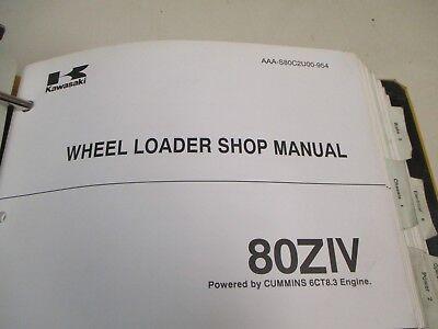 Kawasaki 80ziv Wheel Loader Shop Repair Manual
