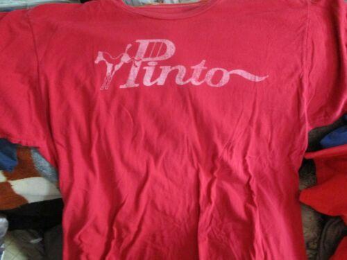 Soft Red Ford PINTO Logo T Shirt XL 100% Ringspun Cotton