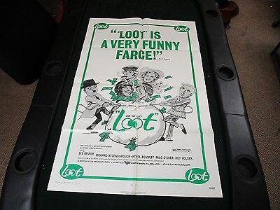 1 sheet 27x41 Movie Poster Loot 1972 Lee Remick Richard Attenborough Roy Holder
