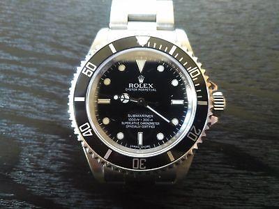 Rolex 14060m submariner no date 4 liner engraved rehaut