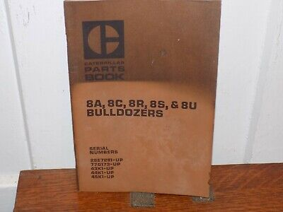 Vintage 1969 Caterpillar Bulldozers Parts Book Soft Cover.