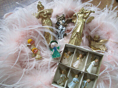 13 Vtg MINIATURE CHRISTMAS ANGELS Ornaments w/ MUSICIANS Assorted Lot Assorted Angels Ornament