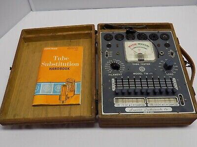 Vintage Superior Instruments Tube Tester Tw-11 1956 Model With Case And Manual