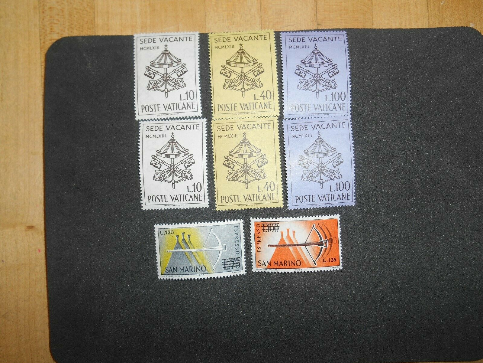 Vatican City 362-364 MNH Interregnum 1963 Sede Vacante.San Marino E27-27 MNH - $2.75