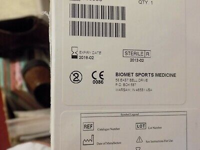 New Biomet Zimmer 1.5mm Juggerknot Soft Anchor Instrument Set Arthroscopy 2018