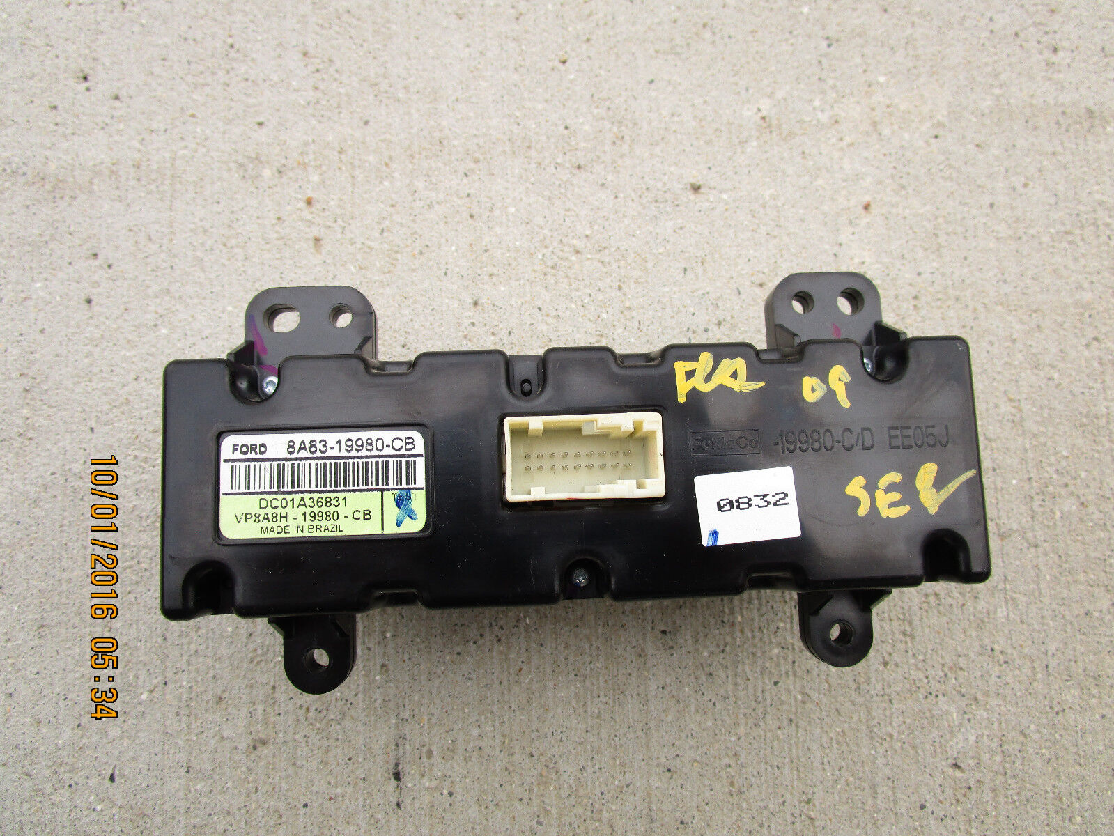 Used Ford Flex A C And Heater Controls For Sale 2012 Fuse Box 09 Sel Se Limited Rear Climate Control P N 8a1983 1984 1997 19980 Cb