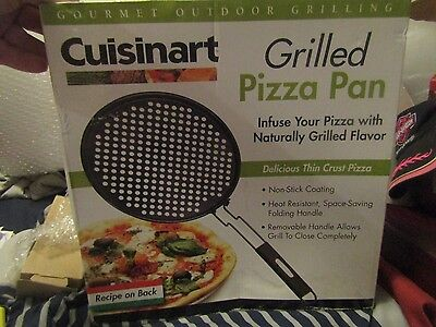 Gourmet Pizza Pan - NEW! Cuisinart Pizza Grilling Pan Non-stick Gourmet Outdoor Grilling Delicious