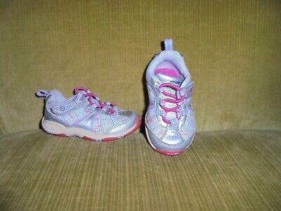 ~STRIDE RITE~ Little Girls Silver leather Shoes, Sz. 5W. ()