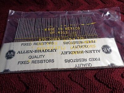 50 Allen Bradley Carbon Comp Resistors 470 Ohms 14 Watt 5 - Nos
