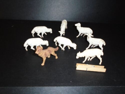Vintage  Lamb  Sheep Figurines stamped  Italy