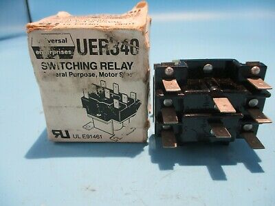 New Universal Interprises Uer340 Switching Relay 24v Coil
