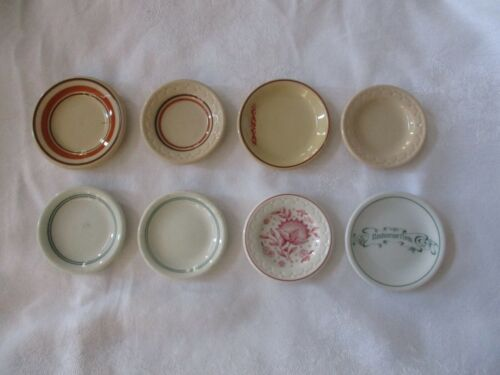 8 vintage butter pats, various styles