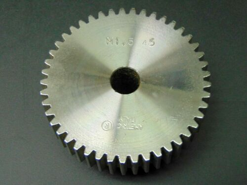 MOD 1.5 X 45 TOOTH, STEEL, METRIC SPUR GEAR, TYPE B W/ HUB    MADE IN ITALY