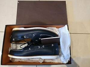 Genuine Louis Vuitton Leather Boat Shoe Oxford Blue size US 9 Hurlstone Park Canterbury Area Preview