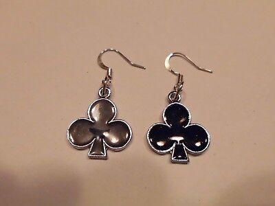 Gebraucht, Ohrring in schwarzem Kreuz aus Email Poker Kartenspiel Goldrand ca.2,0 cm  5051 gebraucht kaufen  Albig