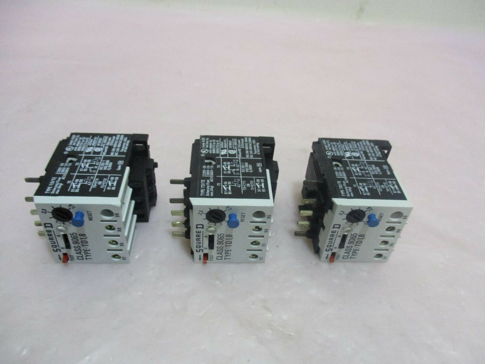 3 Varian 4500133, Thermal Overload Relay, 3PH, Square D, Case 9065. 420160