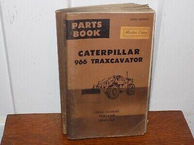 Vintage 1966 Revised Caterpillar 966 Traxcavator Parts Book Master Copy Soft Cov