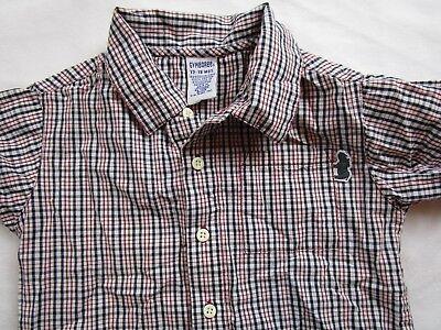 Toddler Boy 12-18 month Red Blue plaid short sleeve dress shirt GYMBOREE - Toddler Boy Red Dress Shirt