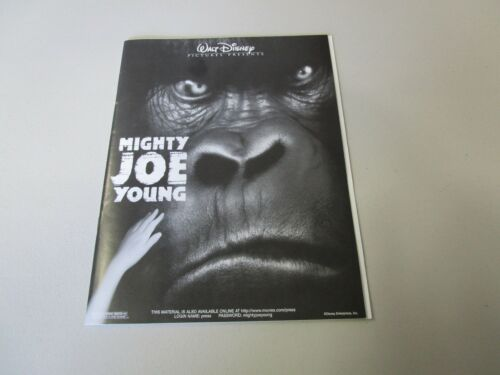 MOVIE PRESS KIT MIGHTY JOE YOUNG BILL PAXTON 35 MM MOVIE SLIDES, PHOTO, INFO