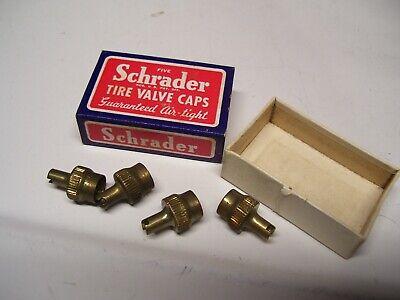 Vintage nos Tire valve brass caps tool auto accessory gm street hot rod parts