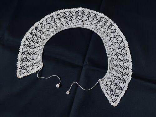 Beautiful Vintage VICTORIAN Handmade Lace Collar 100% Cotton Ivory