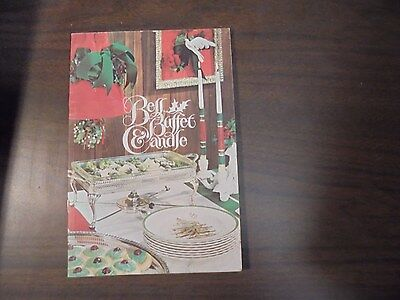 Vintage Bell Buffet Candle From Mountain Fuel 1965 with HOLIDAY Recipes
