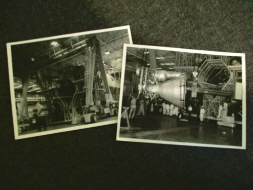 1965 LOT(2) NASA MSFC 1st GEN B/W PHOTO F-1 ENGINE S-IC-T FUEL ASSEMBLY THRUST
