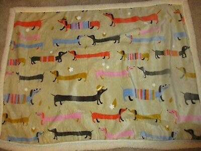 "A Dog's Life Sausage Long Dachshund Dog Plush Throw Blanket 30x40"" Brand NEW for sale  Phoenix"