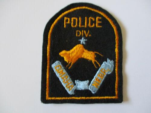 vintage Omaha Nebraska Police Div Division Black Felt Patch