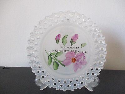 Circa 1920 Souvenir Tiffin Clambroth Glass Dish Hersey Park Pennsylvania