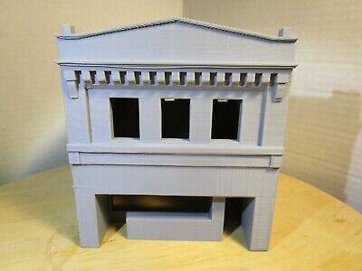 """(1) """" S """"  SCALE  ART DECO BUILDING,  3 D  PRINTED L@@K 1:64  1/64"""