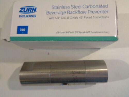 """ZURN 38-740F  3/8"""" STAINLESS STEEL Carbonized Beverage Backflow Preventer"""