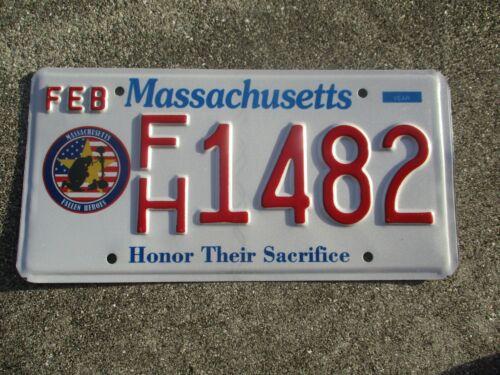 Massachusetts Fallen Heroes license plate  #  1482