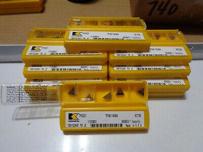 120 Pcs Kennametal Usa Kendex Tpg221 Tpgn110304 Grade Kc730 Inserts Free Ship
