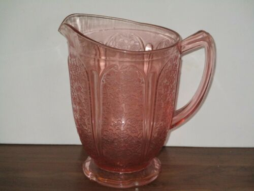 VINTAGE PINK CHERRY BLOSSOM WATER PITCHER
