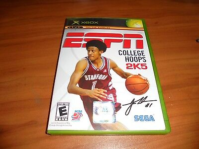 Espn College Basketball Hoops 2K5  Microsoft Xbox  2004  Used Original Complete