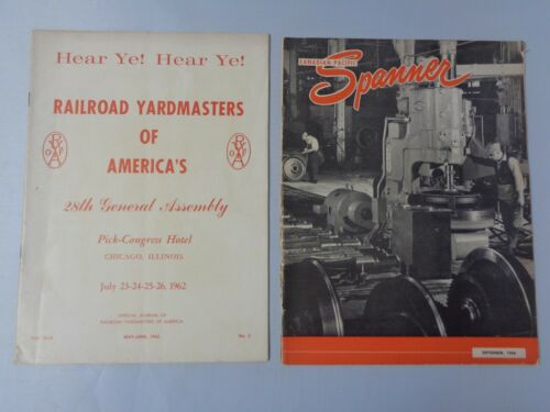 Lot of 2 vintage Railroad news 1962 Yardmaster 28th Assembly and 1960 Spanner