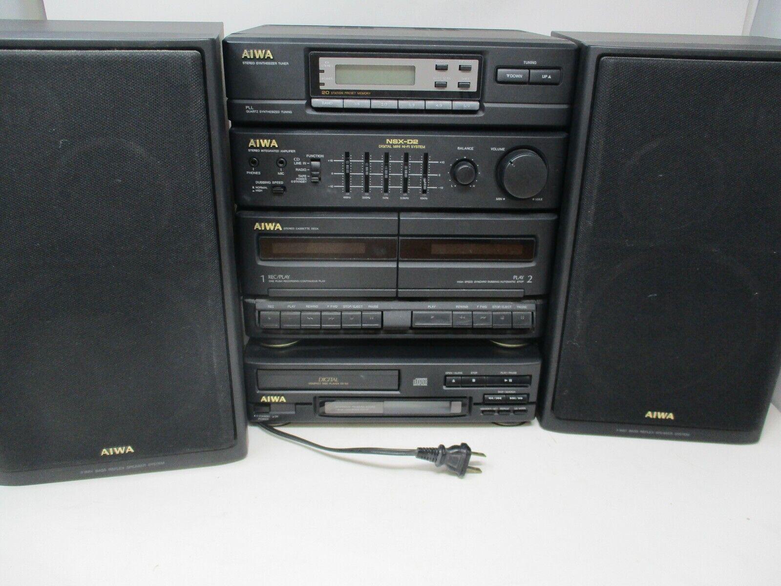 Aiwa Compact Stereo System Receiver Cassette CD XS-N2U DX-N3U