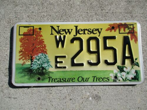 New jersey Treasure our trees license plate #    295A