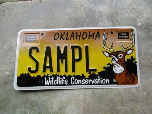 Oklahoma DEER Sample license plate  #  SAMPL