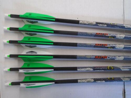 1- 6pk. 2021 TenPoint Pro Elite 400 Carbon Crossbow Bolts/Arrows w/ Alpha Nocks