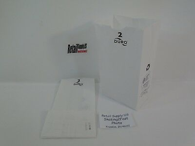 Qty 100 2 White Paper Kraft Snack Lunch Grocery Merchandise Retail Bags