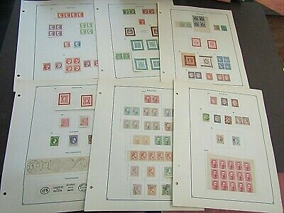 SPAIN - FINE COLLECTION OF EARLY FOURNIER FORGERIES 1850/77 - ON ORIGINAL PAGE