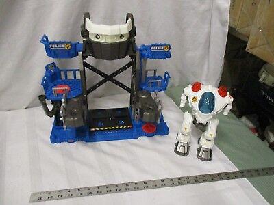 Fisher Price Imaginext Police Robot Robocop cop lights sounds base headquarters
