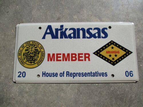Arkansas 2006 House  license plate #   Member