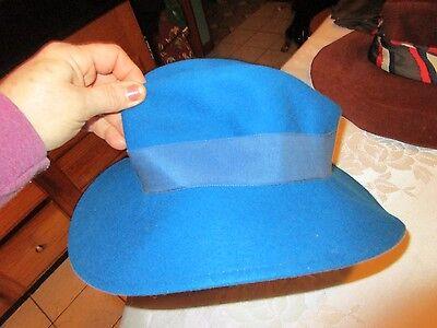 "Women Liz Clairborne 100% Wool Hat  turqoise blue 12.5"" - LUD"