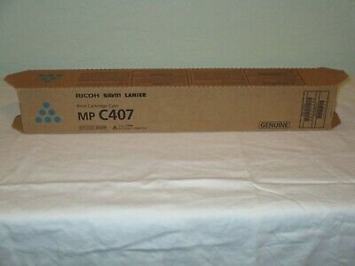 Genuine Ricoh Savin Lanier Mp C407 Cyan Toner Print Cartridge New 842208